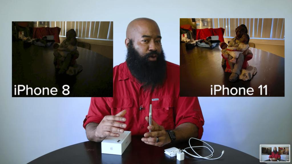 Comparación del modo nocturno de iPhone 8 y iPhone 11