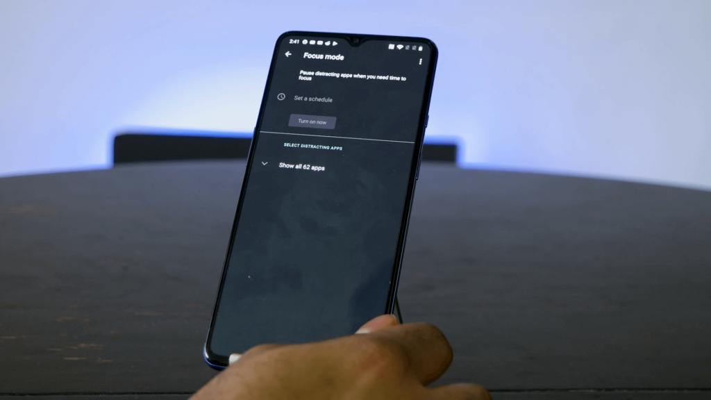 El modo de enfoque del OnePlus 7T
