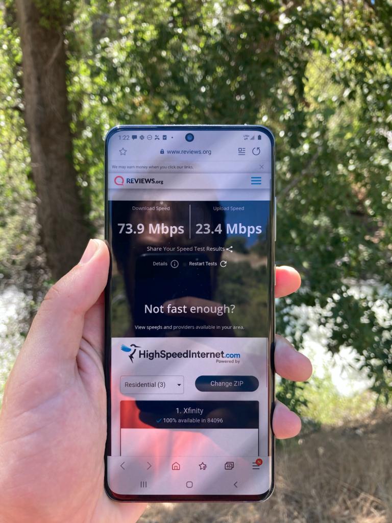 Prueba de velocidad de Verizon Wilderness