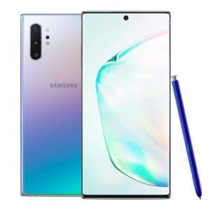 Parte delantera y trasera del Samsung Galaxy Note10 con S Pen