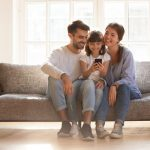 Family Using a Cell Phone 1024x683
