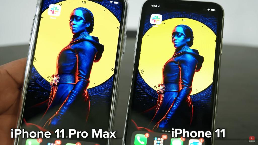Comparación de tamaño del iPhone 11 Pro Max y el iPhone 11